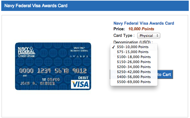 Navy Federal Award Card