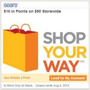 Sears Shop Your Way Coupon