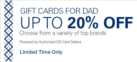 eBay Fathers Day Gift Card