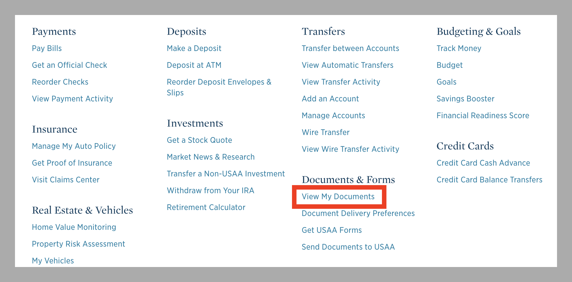 Find USAA Subscriber Savings Account Distribution